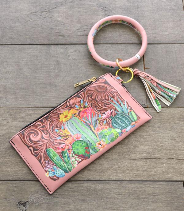 New Arrival :: Wholesale Western Print Bangle Wristlet Pouch