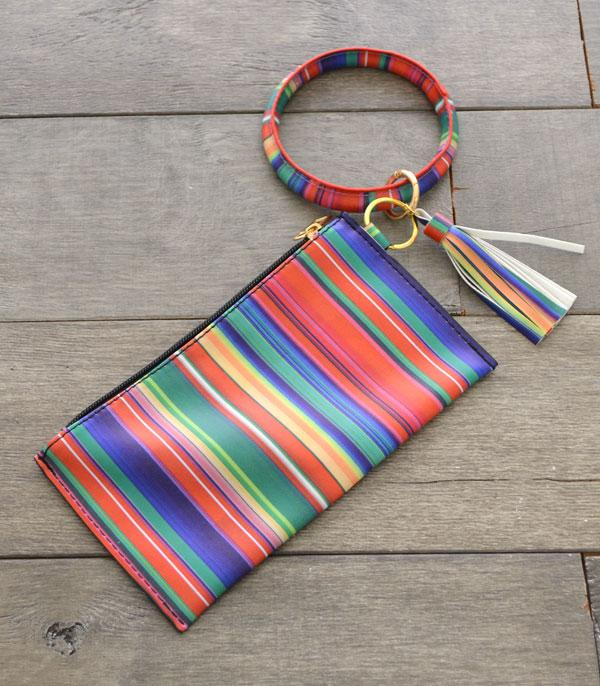New Arrival :: Wholesale Serape Print Bangle Wristlet Pouch