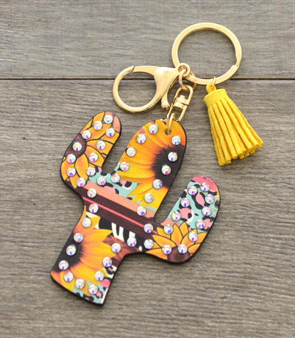 New Arrival :: Wholesale Sunflower Cactus Keychain