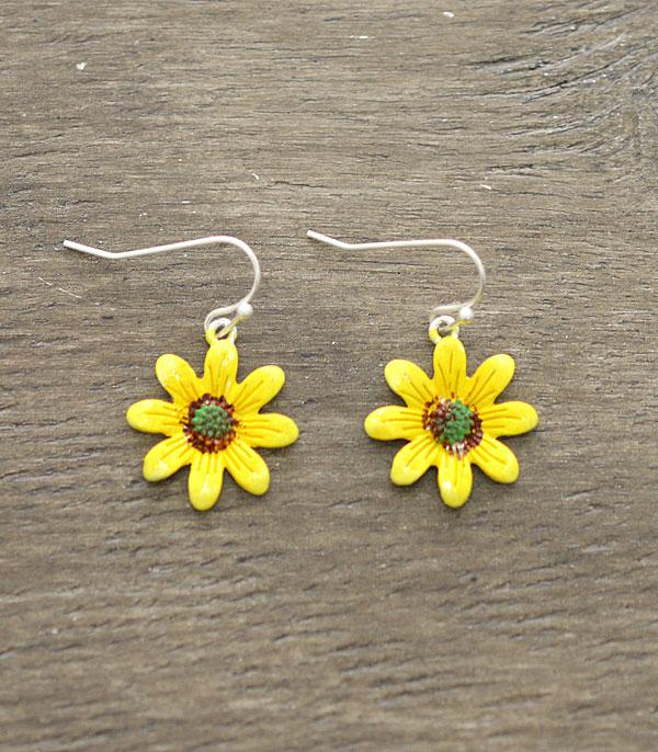 New Arrival :: Wholesale Sunflower Dangle Earrings