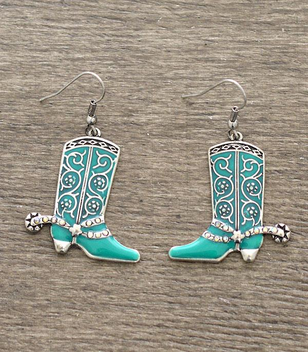 New Arrival :: Wholesale Western Boot Earrings