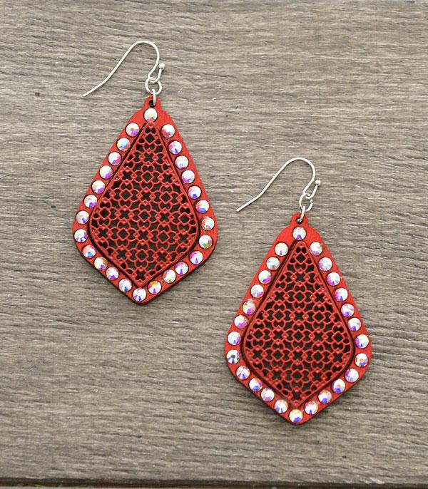 New Arrival :: Wholesale Bling Wooden Earrings
