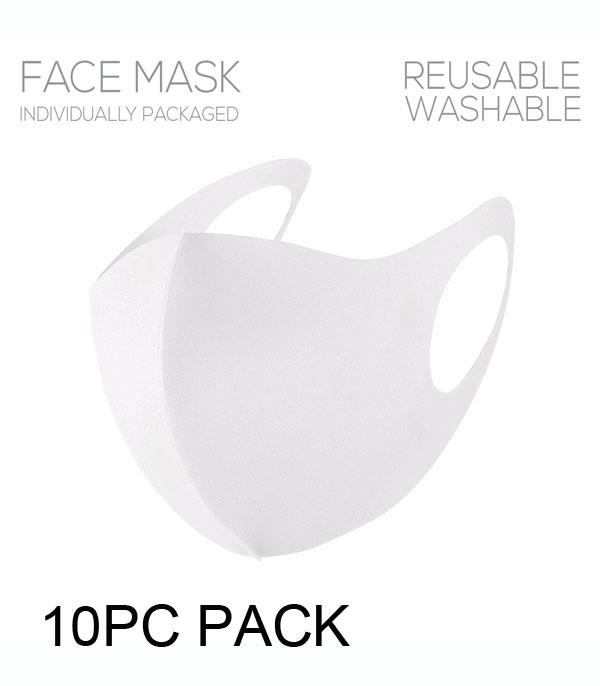 New Arrival :: Wholesale 10PC Pack Solid Face Mask