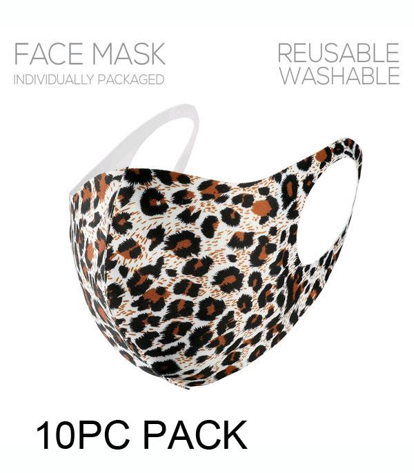 New Arrival :: Wholesale 10PC Pack Leopard Print Face Mask