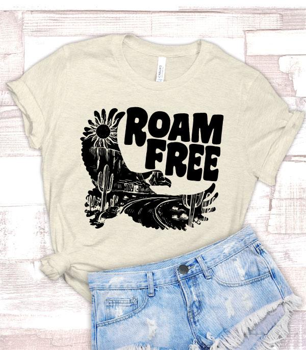 New Arrival :: Wholesale Roam Free Eagle Graphic Tshirt