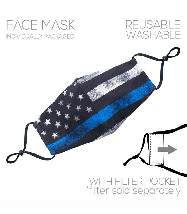 New Arrival :: Wholesale American Flag Filter Pocket Face Mask