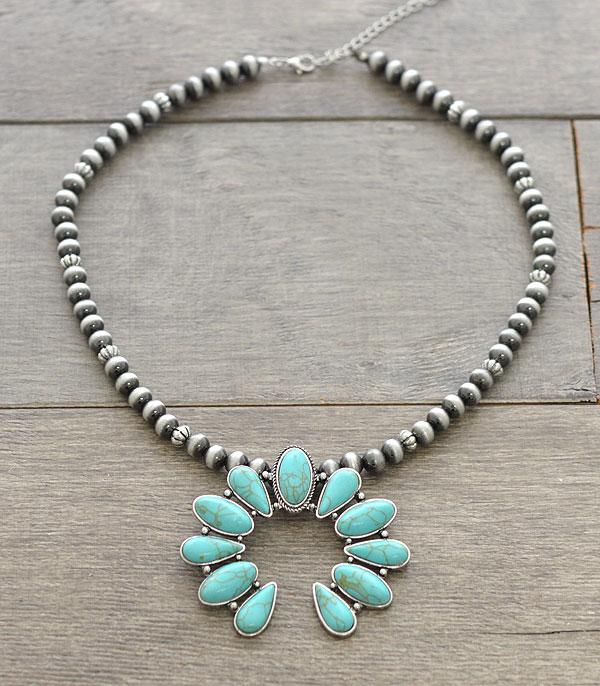 New Arrival :: Wholesale Squash Blossom Navajo Pearl Necklace