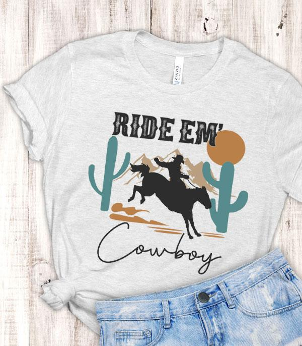 New Arrival :: Wholesale Ride Em Cowboy Graphic Tshirt