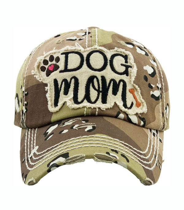 New Arrival :: Wholesale Dog Mom Vintage Ballcap