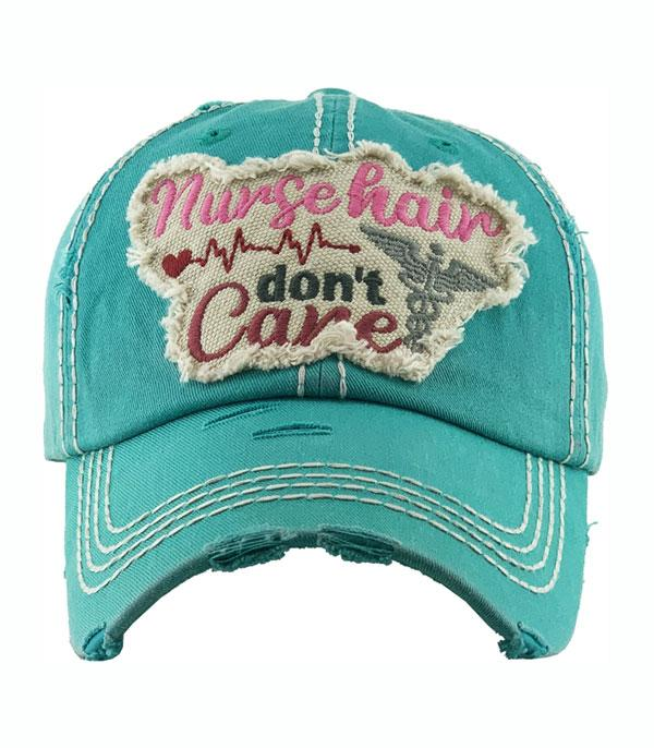 New Arrival :: Wholesale Nurse Hair Don't Care Vintage Ballcap