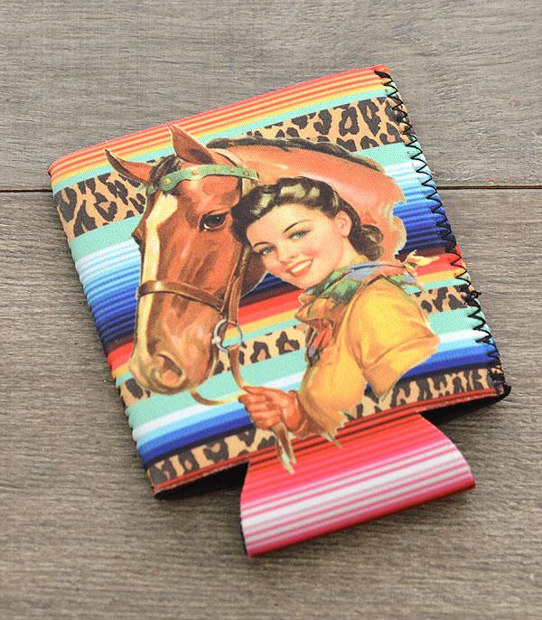 New Arrival :: Wholesale Western Cowgirl Print Drink Sleeve