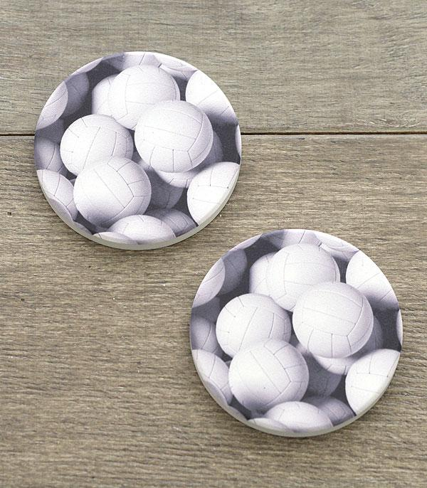 New Arrival :: Wholesale Volleyball Print Car Coaster Set