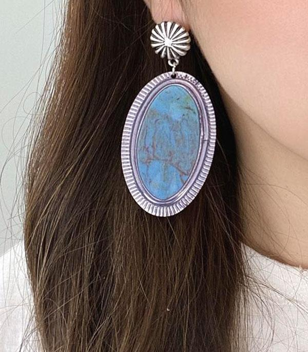 New Arrival :: Wholesale Western Wood Printed Earrings
