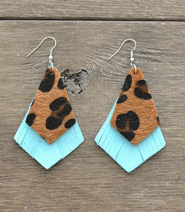 New Arrival :: Wholesale Leather Animal Print Earrings
