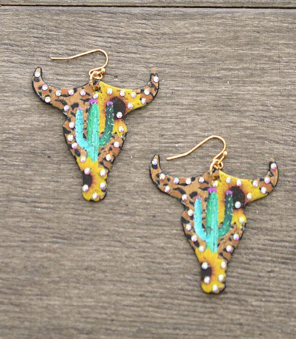 New Arrival :: Wholesale Sunflower Bull Earrings