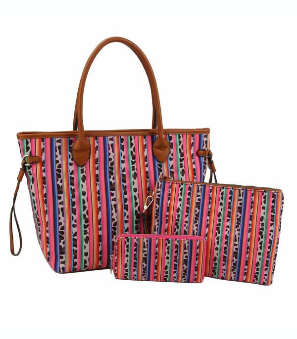 New Arrival :: Wholesale Leopard Serape 3 In 1 Set Bag
