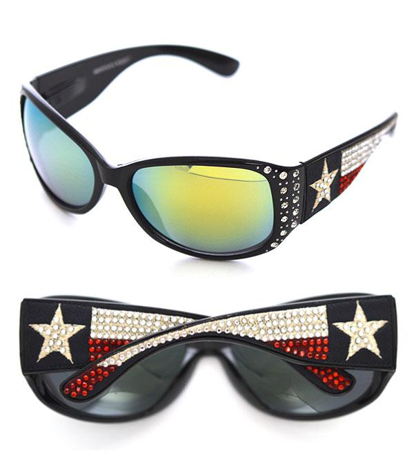 New Arrival :: Wholesale Texas Flag Bling Sunglasses