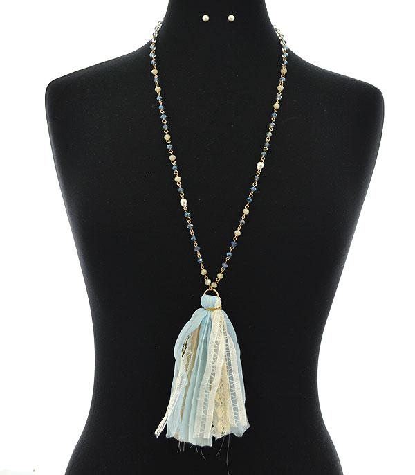New Arrival :: Wholesale Lace Tassel Necklace Set