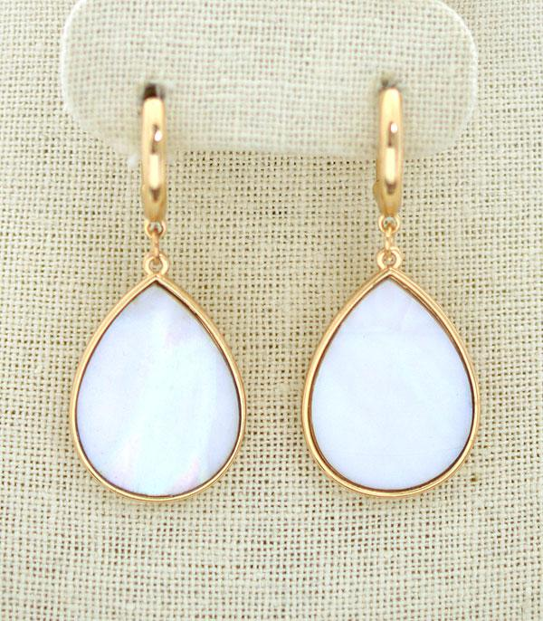 New Arrival :: Wholesale Avalon Teardrop Hoop Earrings