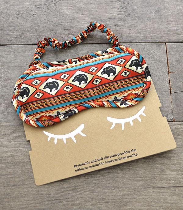 New Arrival :: Wholesale Western Print Soft Silk Satin Sleep Mask