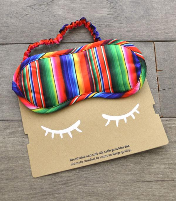 New Arrival :: Wholesale Serape Print Satin Silk Sleep Mask