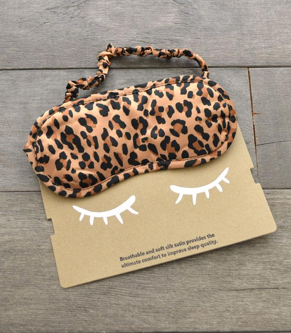 New Arrival :: Wholesale Leopard Print Silk Satin Sleep Mask