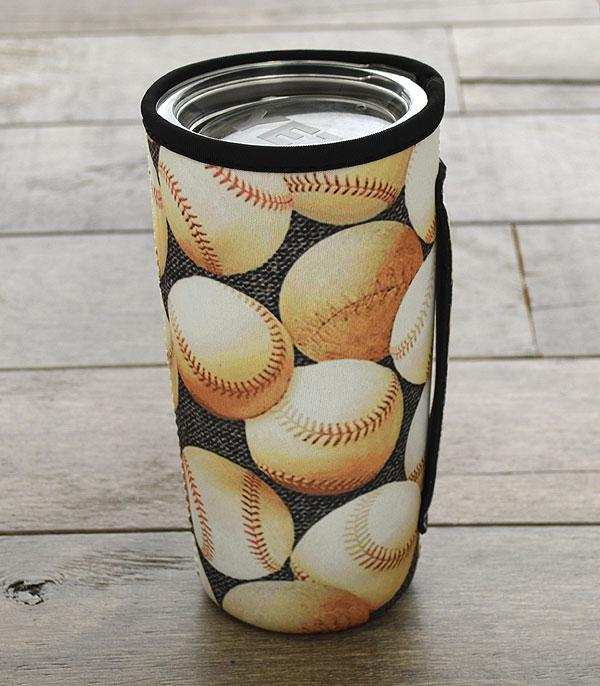 New Arrival :: Wholesale Baseball Print Tumbler Drink Sleeve
