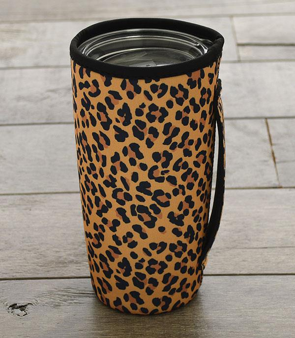 New Arrival :: Wholesale Leopard Print Tumbler Drink Sleeve