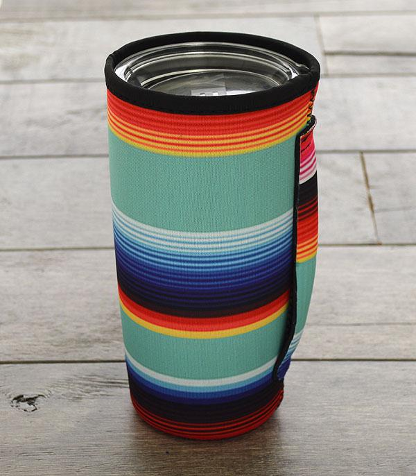 New Arrival :: Wholesale Serape Print Tumbler Drink Sleeve