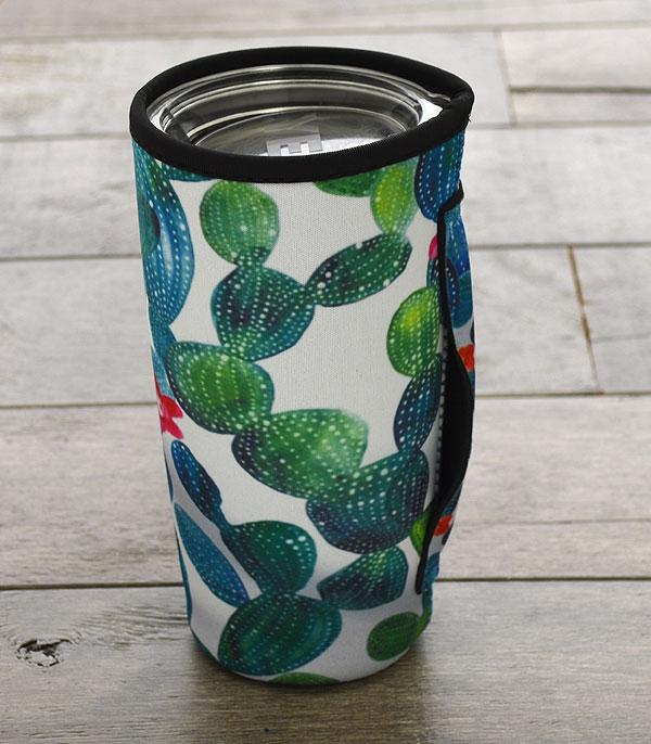 New Arrival :: Wholesale Cactus Print Tumbler Drink Sleeve