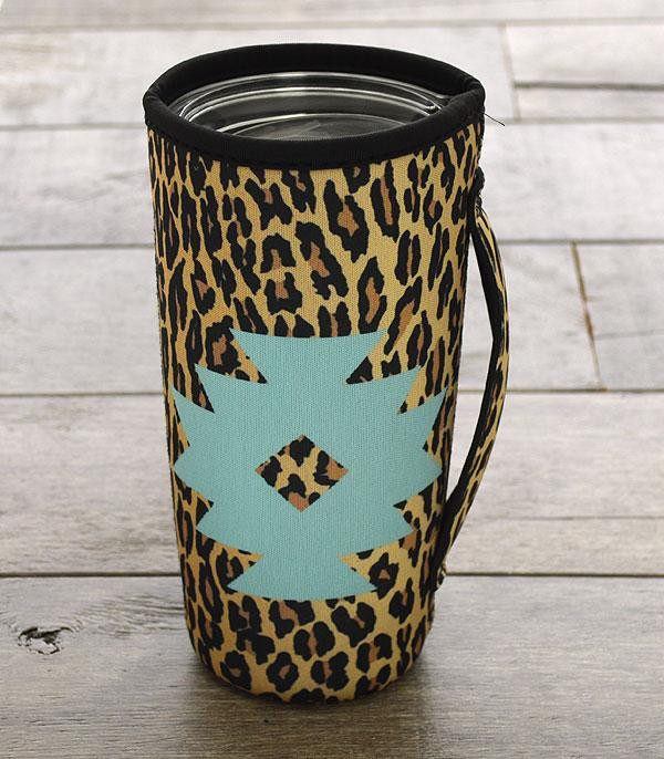 New Arrival :: Wholesale Aztec Leopard Tumbler Drink Sleeve