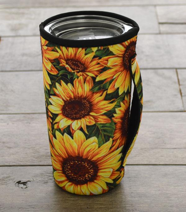 New Arrival :: Wholesale Sunflower Tumbler Drink Sleeve