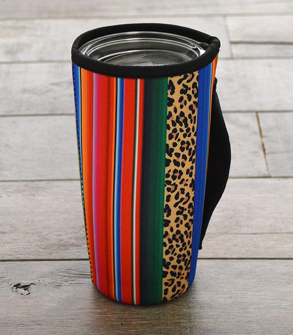 New Arrival :: Wholesale Serape Leopard Tumbler Drink Sleeve