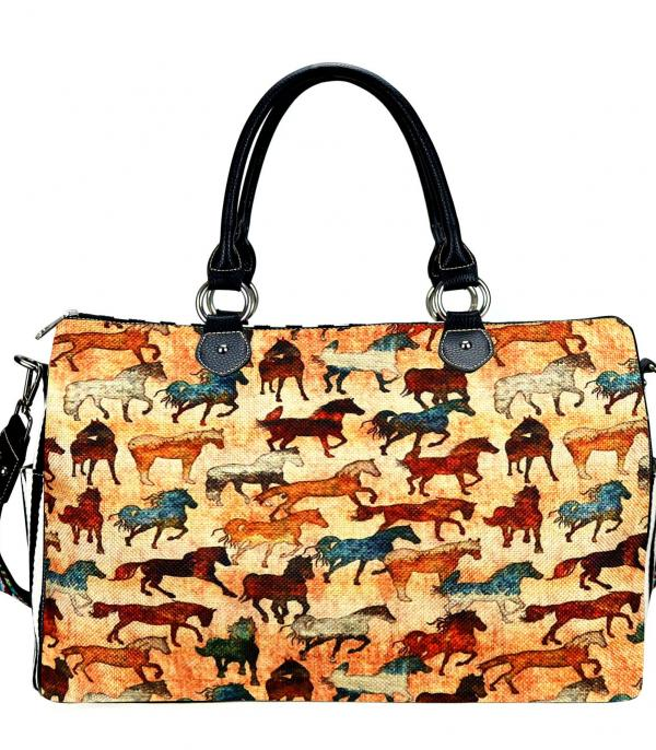 New Arrival :: Wholesale Montana West Horse Print Weekender