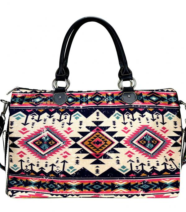 New Arrival :: Wholesale Montana West Aztec Canvas Weekender