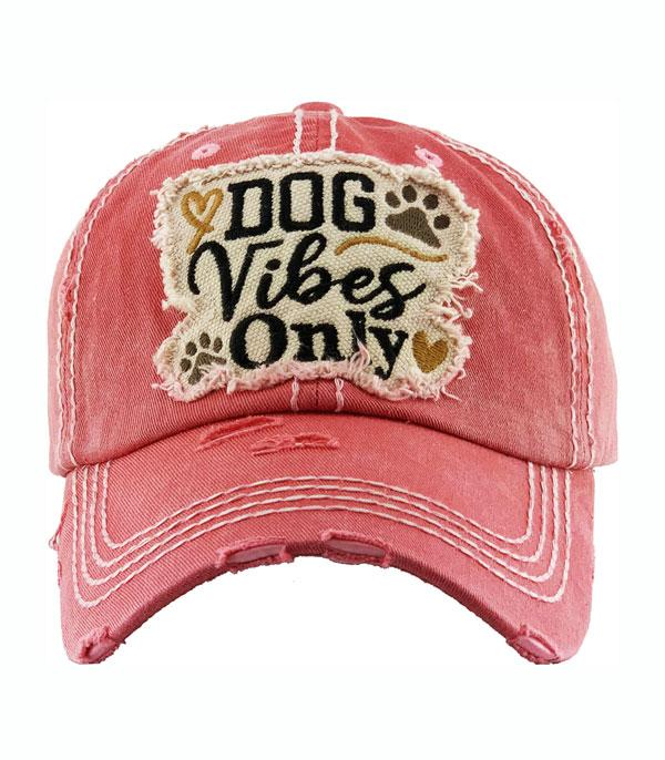 New Arrival :: Wholesale Dog Vibes Only Vintage Ballcap