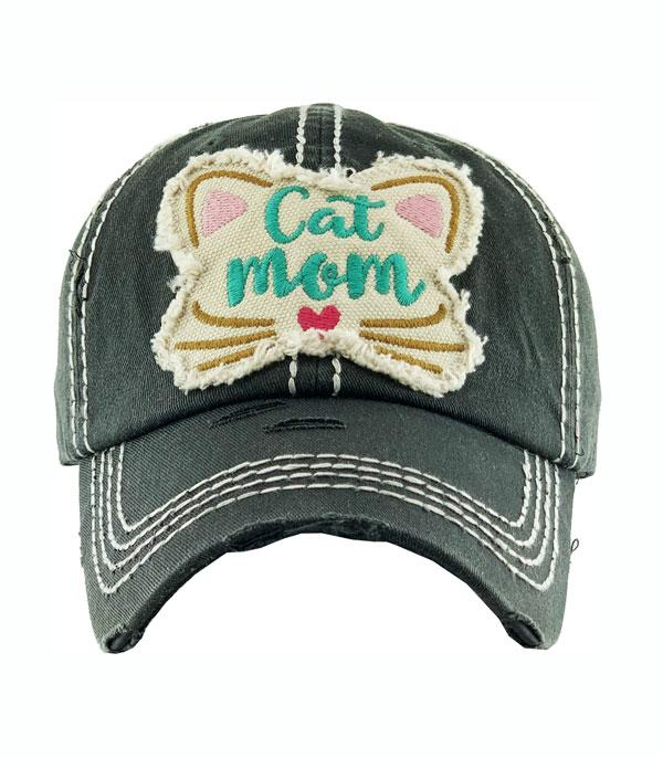 New Arrival :: Wholesale Cat Mom Vintage Ballcap
