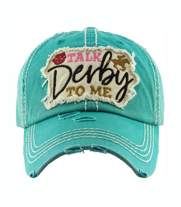 New Arrival :: Wholesale Talk Derby To Me Vintage Ballcap