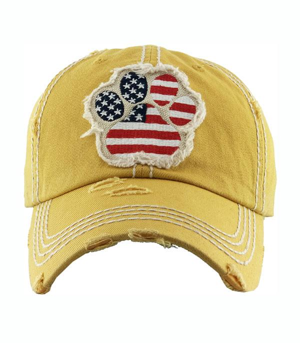 New Arrival :: Wholesale US Flag Paw Vintage Ballcap