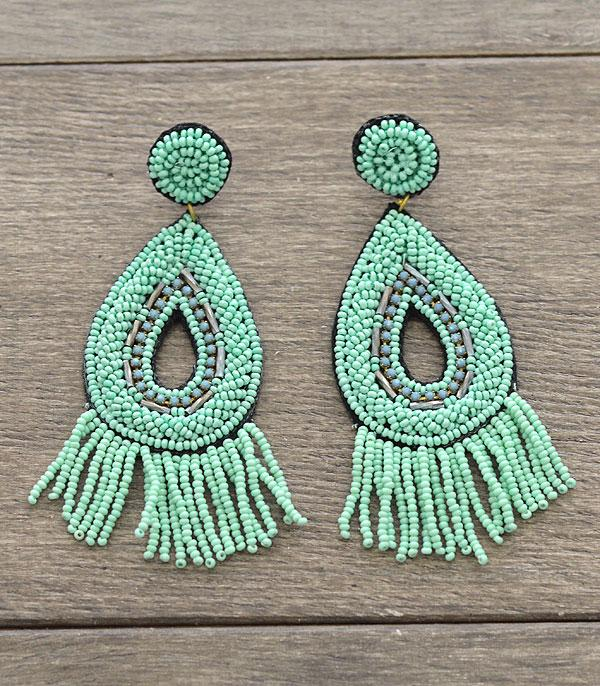 New Arrival :: Wholesale Seed Bead Tassel Earrings