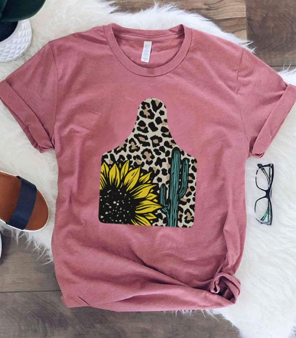 New Arrival :: Wholesale Sunflower Cattle Tag Graphic Tshirt