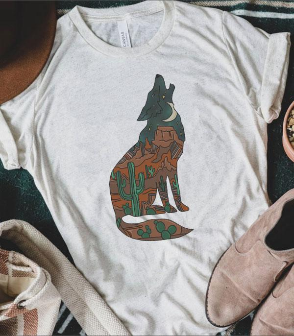 WHAT'S NEW :: Wholesale Desert Wolf Vintage Printed Tshirt