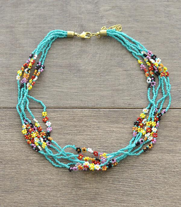 New Arrival :: Wholesale Seed Beaded Choker Necklace