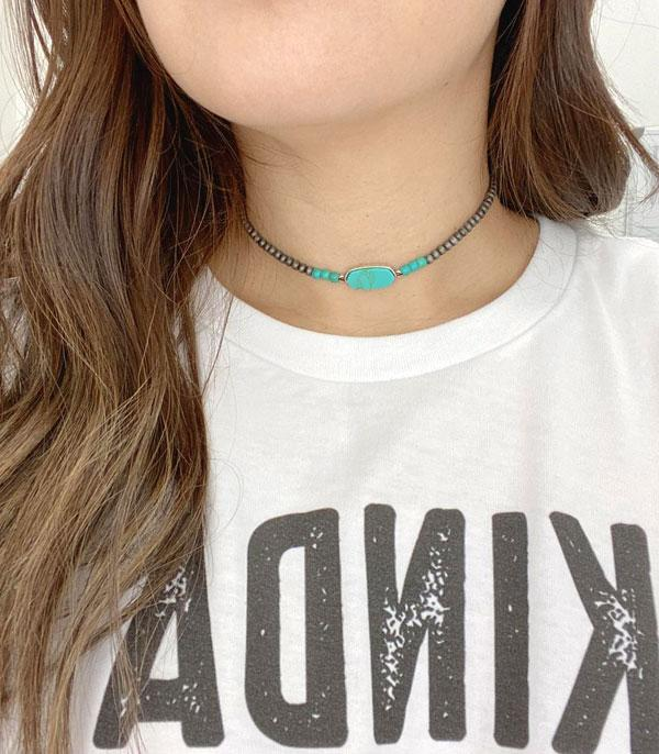 New Arrival :: Wholesale Turquoise Navajo Bead Choker Necklace