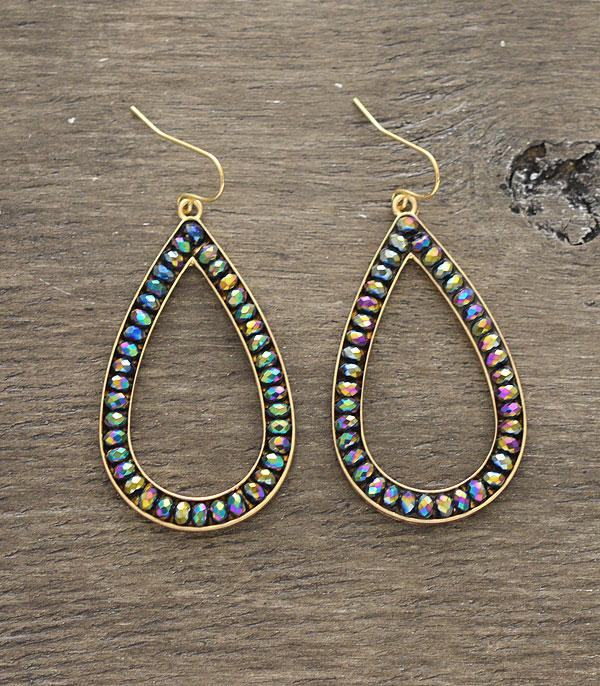 New Arrival :: Wholesale Beaded Teardrop Earrings