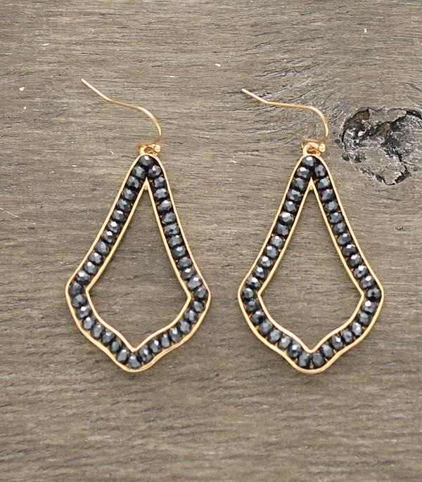 New Arrival :: Wholesale Beaded Geometric Earrings