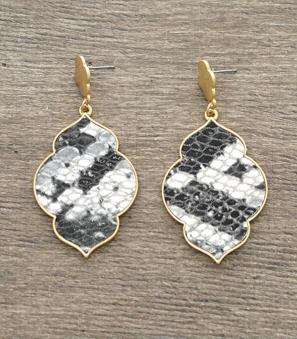 New Arrival :: Wholesale Snake Skin Print Earrings