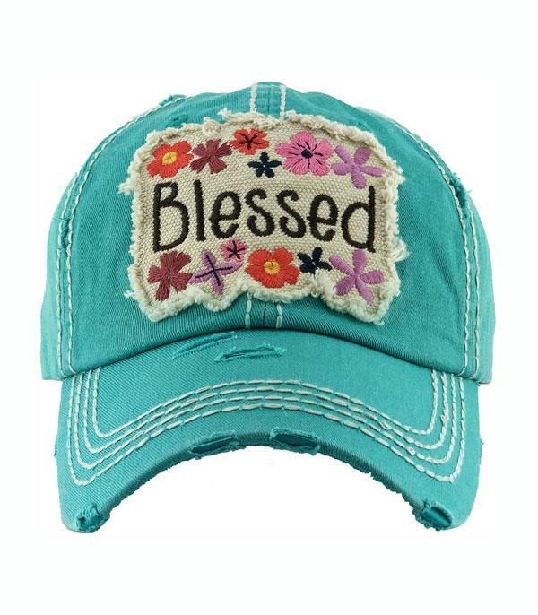 New Arrival :: Wholesale Floral Blessed Vintage Ballcap