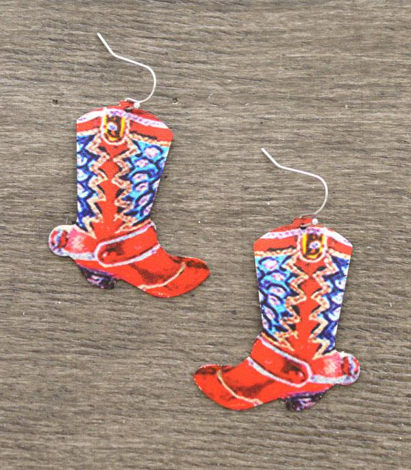 New Arrival :: Wholesale Western Boots Earrings