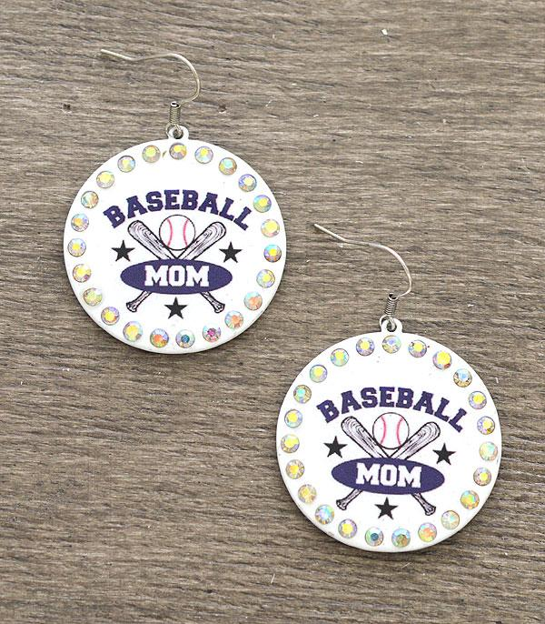 New Arrival :: Wholesale Baseball Mom Earrings